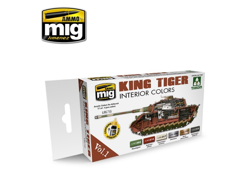 Barvni set King Tiger Interior colours