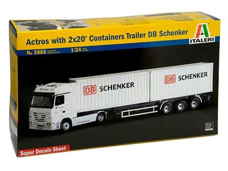 Actros with 2 x 20 Containers trailer DB SCHENKER
