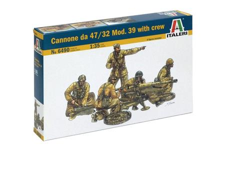 Cannone sa 47/32 Mod. 39 with crew