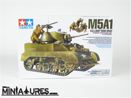 U.S. Light Tank M5A1 Pursuit Operation Set (w/4 Figures)