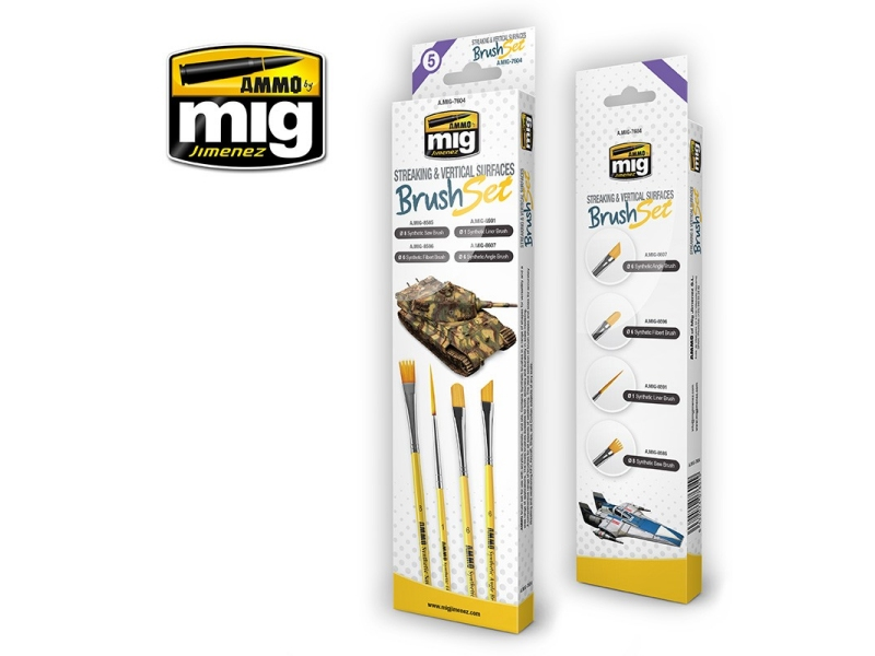 Čopiči AMMO (STREAKING AND VERTICAL SURFACES BRUSH SET)